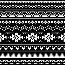 aztec seamless pattern tribal black and white by redkoala
