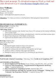 Professional Interests Resume Free Hair Stylist Resume Templates Resume Template And