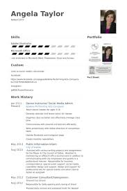 dance instructor resume samples visualcv resume samples database
