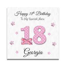 granddaughter 18th birthday card handmade personalised daughter