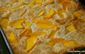 quick and easy peach cobbler made with oat flour deliciously fit