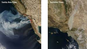 Wildfire Test Questions by Study Contrasts Effects Of Two Types Of Socal Fires Nasa