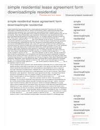 printable simple rental agreement month to month fill out