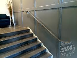 Wall Mounted Handrail Flat Bar Wall Mounted Stainless Paint Handrails For Law Office Smw