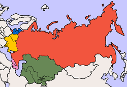 former soviet union map post soviet states