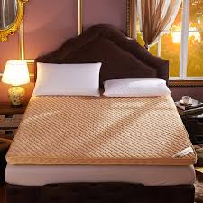 home bedroom soft mattress japanese futon coral fleece thick warm