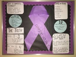 first bulletin board domestic violence awareness month