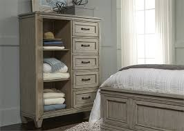 Driftwood Bedroom Furniture Grayton Grove Panel Bed 6 Bedroom Set In Driftwood Finish By