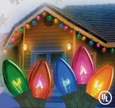 c7 vs c9 lights set of 25 transparent multi color c7 twinkle christmas lights 12
