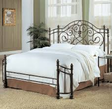 White Double Metal Bed Frame Rustic Metal Bed Frame Double Bed Frame With Under Storage Bedding