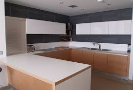 Kitchens Furniture by Flat Panel Birch Veneer And Satin Painted Kitchen Furniture