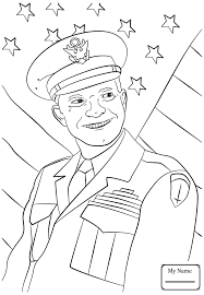 Coloring Pages Usa Countries Cultures General Dwight Eisenhower Coloring Pages Usa