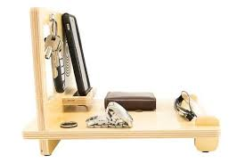 the handmade wood desk organizer with iphone 6 docking station