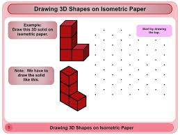 s drawing 3d shapes on isometric paper youtube