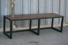 Industrial Bench Seat Modern Industrial Bench Made Of Steel And Reclaimed Wood