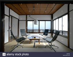 eames chair living room contemporary tatami room with charles eames office chairs in a