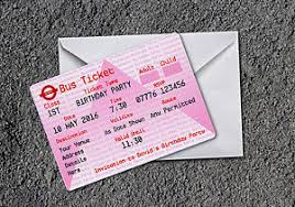 wedding invitations ebay pack of 20 personalised ticket wedding invitations ebay