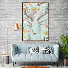 nordic decoration 2018 shabby chic home decor nordic decorative stag head wallpaper