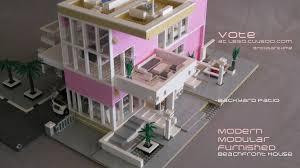 Movie House Modernist Brutalist Buildings Made From Lego Bricks Lego Modern Home Design