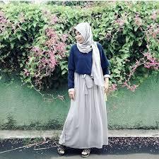 rok panjang muslim model baju muslim dengan setelan rok panjang trendy info fashion