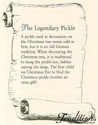 the about the german pickle tradition