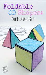 3 Dimensional Shapes Worksheets Foldable 3d Shapes Free Printable Nets