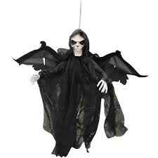 halloween scary party scene light up eyes hanging black face ghost