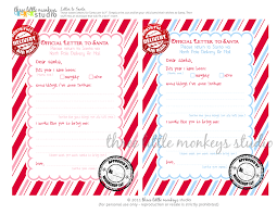 official letters from santa free letters to santa three monkeys studio