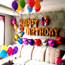 birthday decoration ideas at home with balloons simple birthday