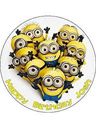 minions cake toppers minions 7 5 personalised birthday cake topper printed on