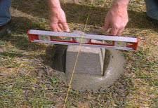 hometime how to decks digging footings u0026 pouring concrete