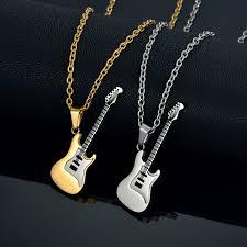 guitar necklace pendants images Bass guitar necklace pendant for men women lover gift gold color jpg
