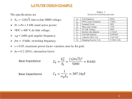lcl si e lcl filter design