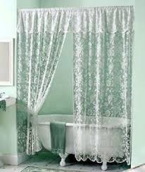 Victorian Swag Curtains Lace Shower Curtain White Lace Shower Curtain By Thecottageway