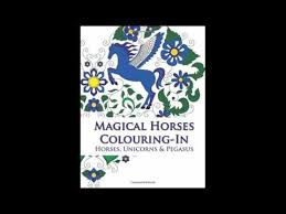 magical horses colouring horse coloring book featuring horses