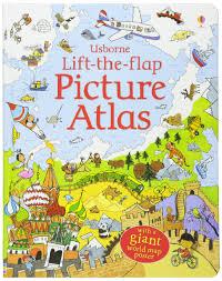 Large World Map Poster Lift The Flap Atlas Amazon Co Uk Alex Frith Kate Leake