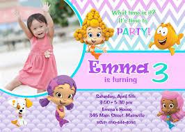 unique ideas for bubble guppies birthday invitations designs ideas