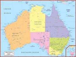 map of australia political australia maps academia maps