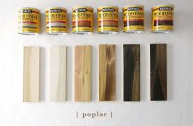 what type of finish should i use on kitchen cabinets how 6 different stains look on 5 popular types of wood