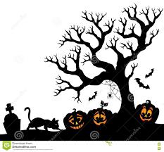 halloween silhouette clipart halloween tree silhouette theme 1 stock vector image 75177756