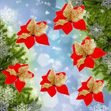 christmas xmas tree hanging decoration red flower christmas tree