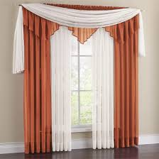 vista sheer 288 inch scarf valance window treatments pinterest