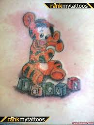cartoon baby tiger tattoo