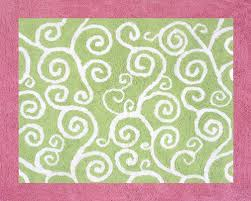 Area Rug For Kids Room by Pink U0026 Green Scroll Print Rug Kids Accent Floor Area Rug For