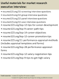 Research Resume Examples by Top 8 Market Research Executive Resume Samples