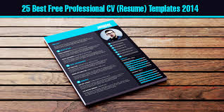 Professional Resume Cv Template 25 Best Free Professional Cv Resume Templates 2014