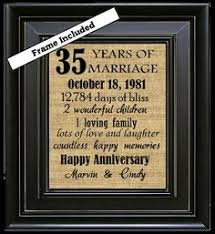 35 anniversary gift framed 35th anniversary 35th wedding anniversary gift 35th coral
