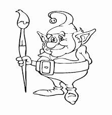 free christmas elves coloring pages brandsomasz