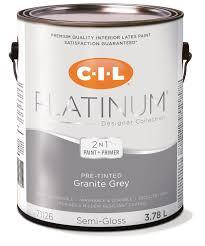 cil platinum interior paint pre tinted granite gray 3 78 l