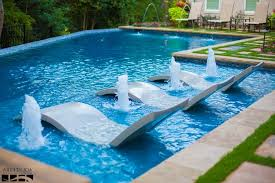 Lounge Chairs In Pool Design Ideas Rectangular Swimming Pool Designs Home Designs Ideas